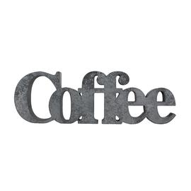 Scritta Coffee cemento 41x25