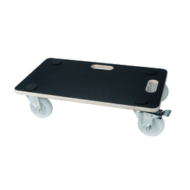 Carrello portatutto con piattaforma in legno, 4 ruote