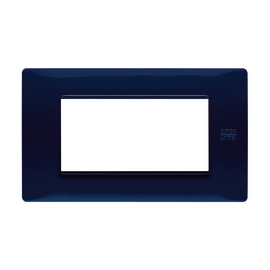 Placca 4 moduli Simon Urmet Nea Flexa blu