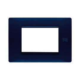 Placca 3 moduli Simon Urmet Nea Flexa blu