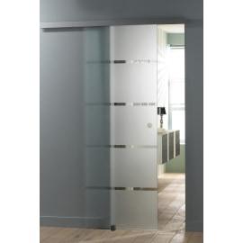 Porta da interno scorrevole Miami satinato 86 x H 215 cm reversibile