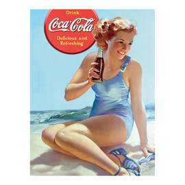Poster Coca Cola Pin Up 60 x 80 cm