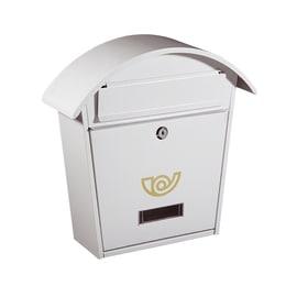 Cassetta postale Chalet bianca, formato rivista, L 36,5 x H 37 x P  12 cm