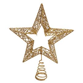 Puntale stella 5 punte oro 30 cm