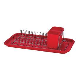 Porta piatti rosso L 43,8 x P 23 x H 11 cm