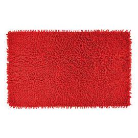 Tappeto bagno Velvet rosso