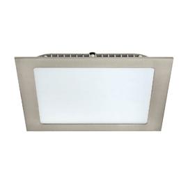 Faretto da incasso Extraflat nickel LED integrato fisso quadrato 17 x 17 cm 12 W = 1100 Lumen luce naturale