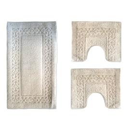 Set tappeti bagno Ischia ecrù