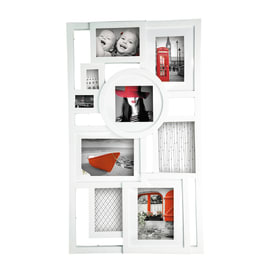 Portafoto multiplo Mosaic bianco 9 foto