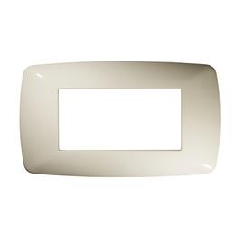 Placca 4 moduli FEB Flexì Brio bianco