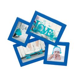 Portafoto multiplo Storty blu 4 foto