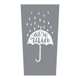 Portaombrelli Let it Rain grigio