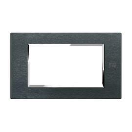 Placca 4 moduli Simon Urmet Nea Expì alluminio karbon
