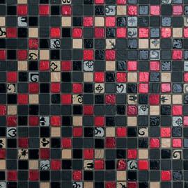 Mosaico Red & Dark 30 x 30 cm nero, rosso