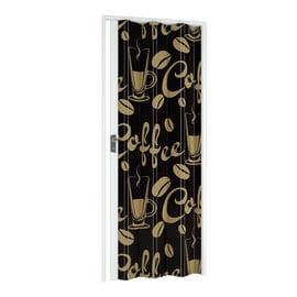 Porta a soffietto Coffee fantasia L 89.5 x H 214 cm