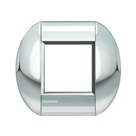 Placca 2 moduli BTicino Livinglight cromo