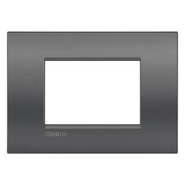 Placca 3 moduli BTicino Livinglight Air Grigio metallizzato