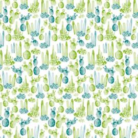 Tenda doccia Cactus verde L 180 x H 200 cm