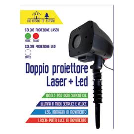 Proiettore laser 4 Led verde e rosso L 13 x P 15 x H 39 cm