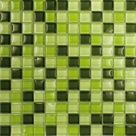 Mosaico Crystal mix spring 30 x 30 cm verde