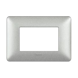 Placca 3 moduli BTicino Matix bianco calce