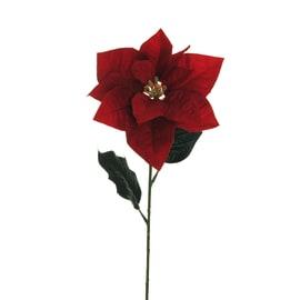 Fiore stella di Natale in velluto, 54 cm