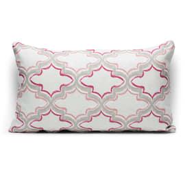 Fodera per cuscino Aida rosa retro tinta unita 30 x 50 cm
