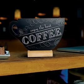 Lavagna da tavolo a forma di tazza