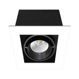 Faretto da incasso Chris bianco, nero LED integrato fisso quadrato 11,6 x 11,6 cm 7 W = 750 Lumen luce calda