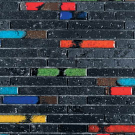Mosaico Lava 33 x 30 cm nero, multicolor