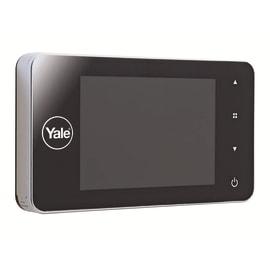 Spioncino digitale per porte blindate Yale Con memoria interna infrarossi e schermo grande argento
