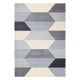 Tappeto Carve Geometric beige, grigio, nero 120 x 160 cm