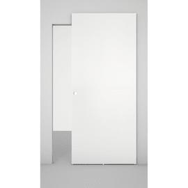 Porta da interno scorrevole Space binario nascosto bianco 101 x H 230 cm dx