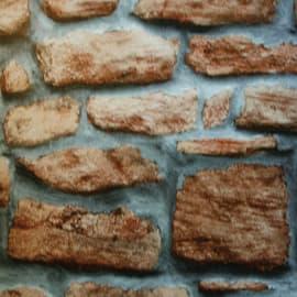 Pellicola adesiva muro pietra marrone