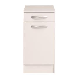 Base Spring 1 anta + 1 cassetto bianco L 40 x H 86 x P 50 cm