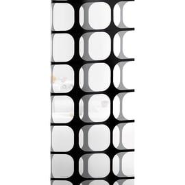 Tenda doccia Frames bianca/nera L 120 x H 200 cm