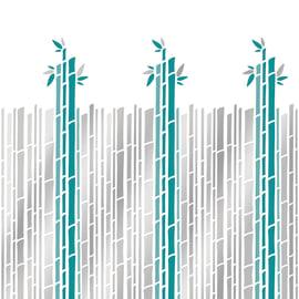 Tenda doccia Cannette verde L 180 x H 200 cm