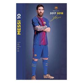 Poster Fc Barcellona 2017/2018 - Messi 61 x 91,5 cm