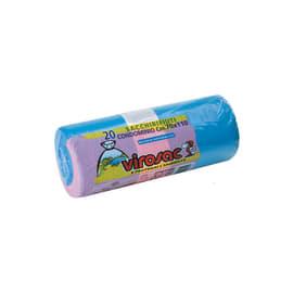 Sacco rifiuti Rotolo condominio 110 x 70 cm azzurro 20 pezzi