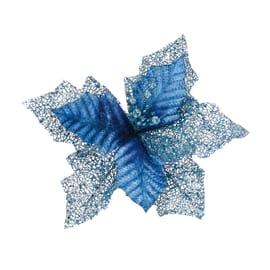 Fiore stella di natale blu