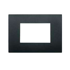 Placca 3 moduli Vimar Arké nero