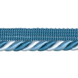 Cordone con fettuccia azzurro  bianco Ø 8 mm