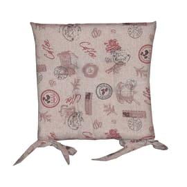 Cuscino per sedia Relax coffee ecru 40 x 40 cm