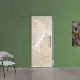Porta da interno scorrevole Grafic 3/binario Lux 88 x H 215 cm sx