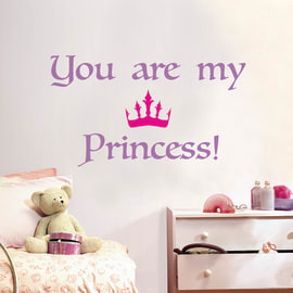 Sticker Words UP Kids Princess