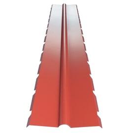 Colmo Dentellato in acciaio color rosso 400 x 100 cm, L 220 cm