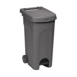 Bidone Urban Eco System apertura a pedale grigio satinato 80 L