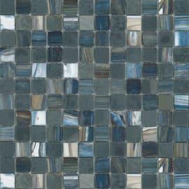 Mosaico Ancien brume noir 30 x 30 cm blu, nero