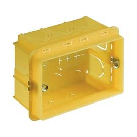 3 scatole rettangolari BTicino 503 gialla