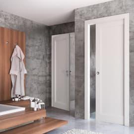 Porta da interno battente Aludra bianco 80 x H 210 cm sx
